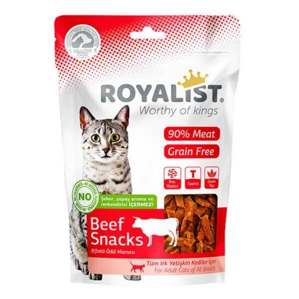 غذای تشویقی گربه رویالیست مدل گوشت گاو وزن 80 گرم
