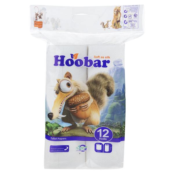 دستمال توالت هوبار بسته 12 عددی