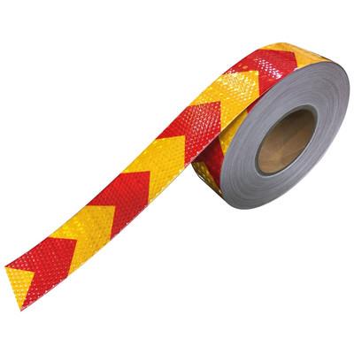 نوار شبرنگ هشدار  زرد قرمز 5 سانتی متر