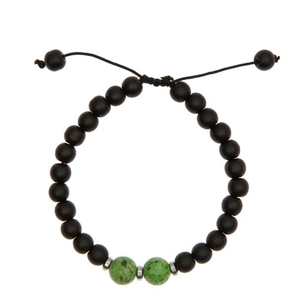 دستبند آرامیس مدل مهره سبز C115