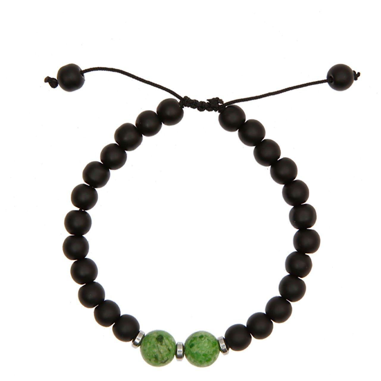 دستبند آرامیس مدل مهره سبز C115 -  - 1