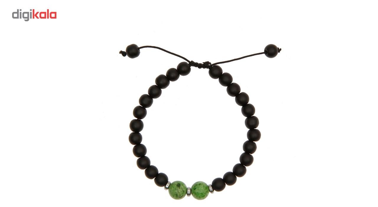 دستبند آرامیس مدل مهره سبز C115 -  - 2