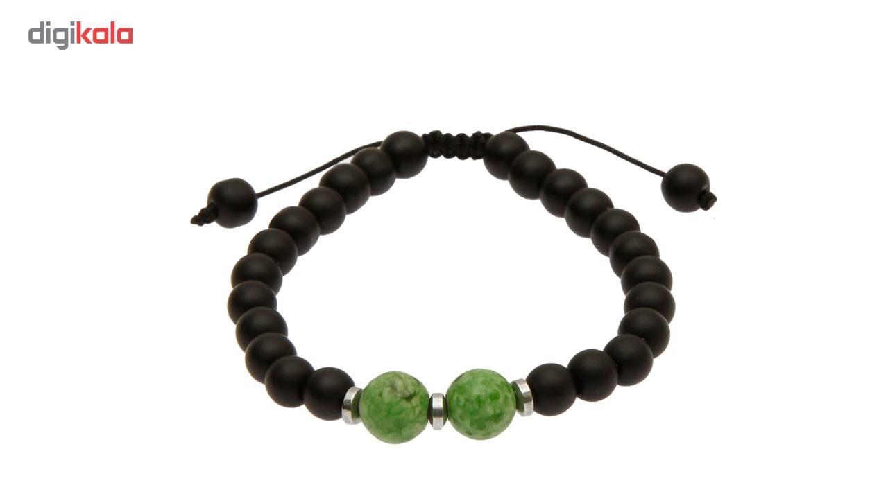 دستبند آرامیس مدل مهره سبز C115 -  - 3