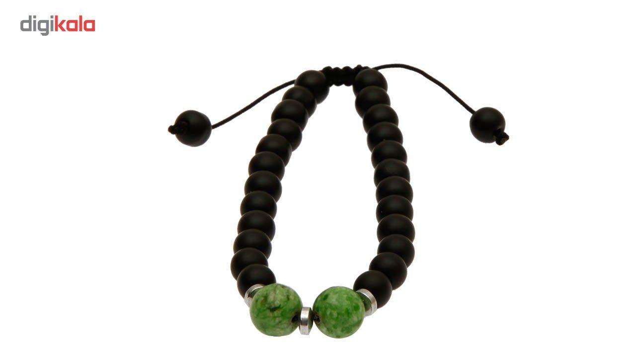 دستبند آرامیس مدل مهره سبز C115 -  - 4
