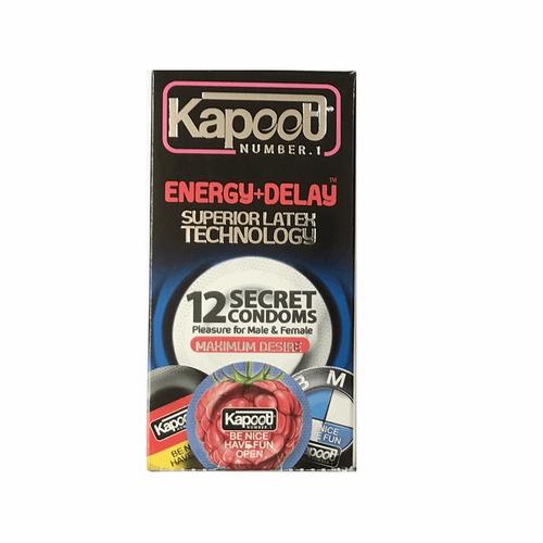 کاندوم تاخیری کاپوت مدل Energy Delay بسته 12 عددی