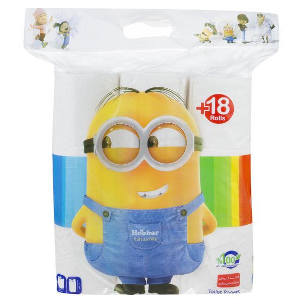 دستمال توالت هوبار بسته 18 عددی