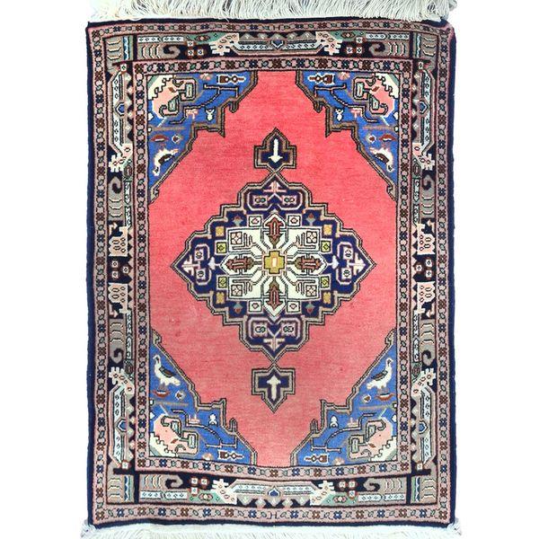 فرش دستبافت قدیمی یک متری گالری سلام کد1016