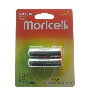 باتری قلمی قابل شارژ moricell مدل AA1100 بسته 2 عددی