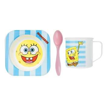 ست 3 تکه غذاخوری کودک بلو بیبی مدل Sponge Bob M0027