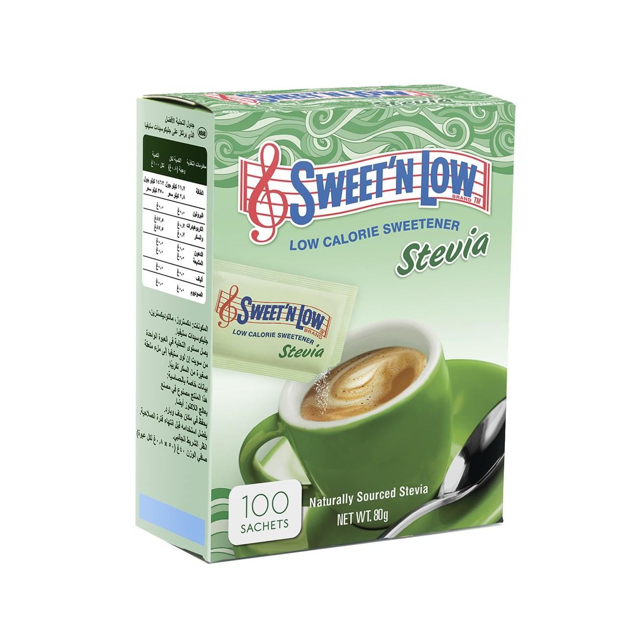ساشه شیرین کننده سوئیت اند لو مدل Stevia بسته 100 عددی
