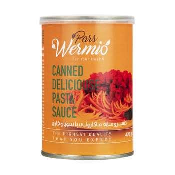 کنسرو مایه ماکارونی با سویا و قارچ پارس ورمیو - 420 گرم
