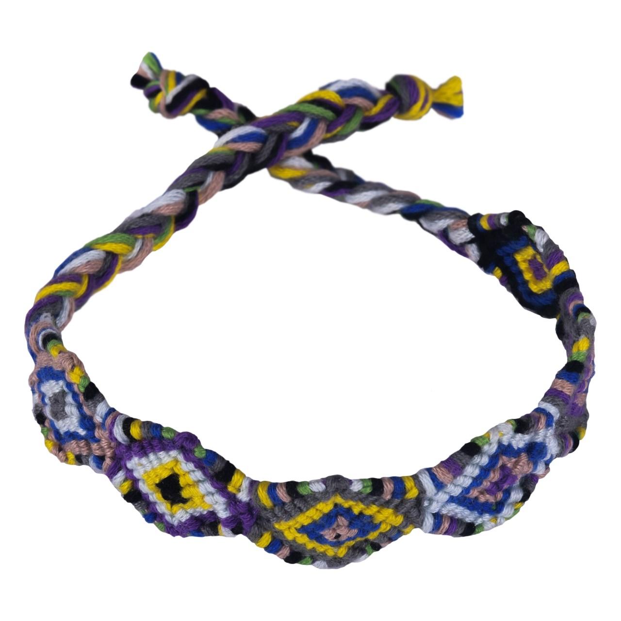 دستبند بافت گالری سیمین طرح گُل پیچ بنفش مدل 00-03