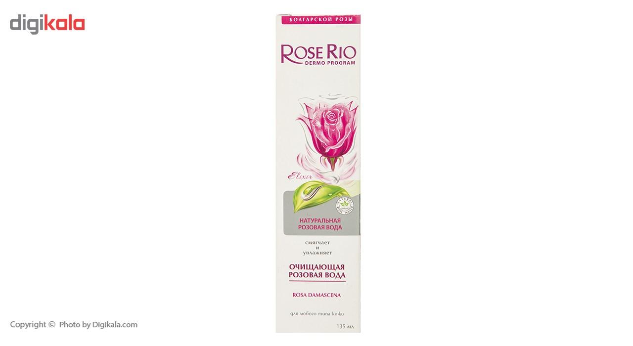 محلول پاک کننده رز ریو مدل Natural Rose Water حجم 135 میلی لیتر