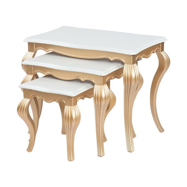 میز عسلی سهیل کد 0068TA مجموعه سه عددی