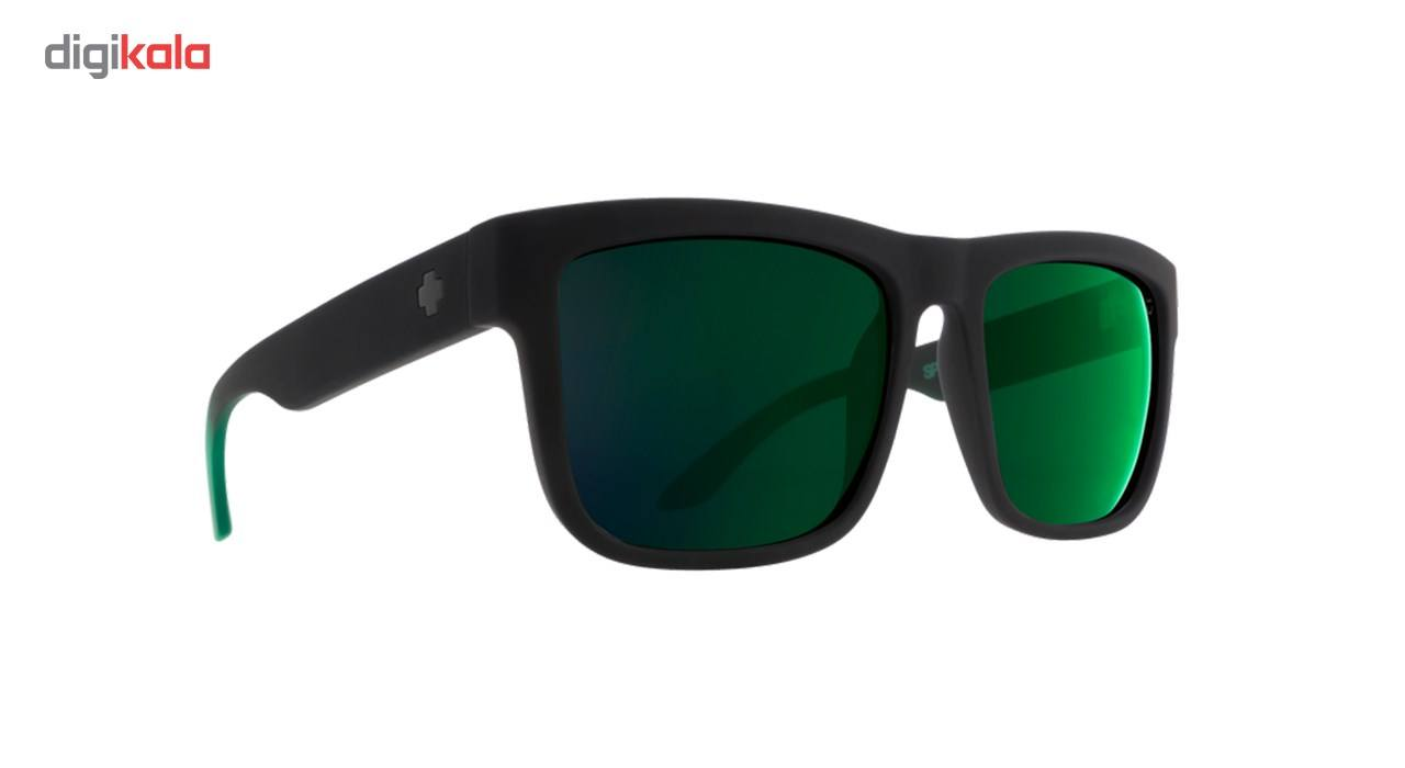 عینک آفتابی اسپای سری Discord مدلSoft Matte Black Green Fade Happy Gray Green Green Flash -  - 2