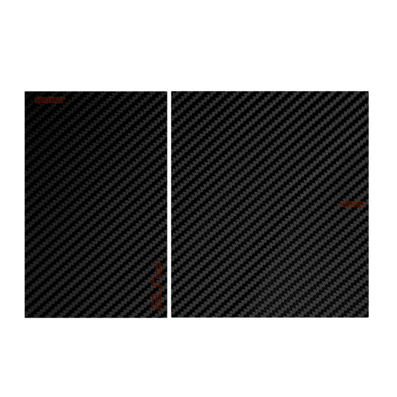 برچسب تزینی مدل Black Carbon-fiber Texture مناسب برای کنسول بازی PS2