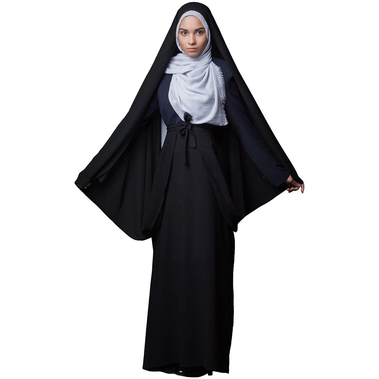 چادر  کمری قجری کرپ کریستال حجاب فاطمی مدل 201072kr