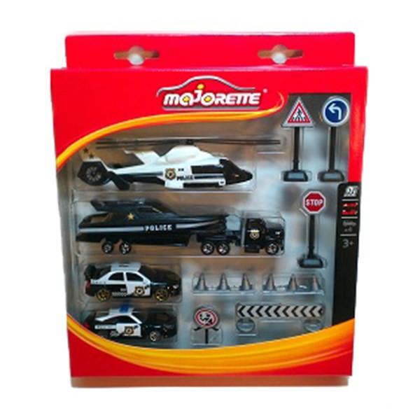 ست ماشین بازی ماژورت مدل امداد پلیس کد 8580