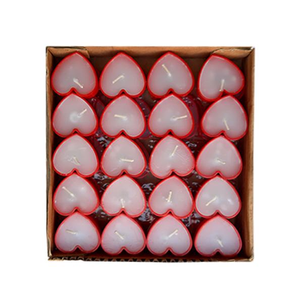 شمع وارمر استار طرح قلب مدل 01 بسته 40 عددی