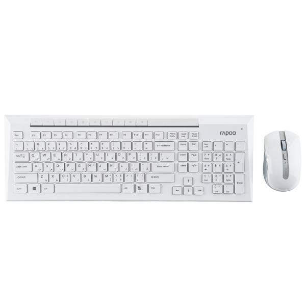 کیبورد و ماوس بی سیم رپو مدل 8200P با حروف فارسی | Rapoo 8200P Wireless Keyboard and Mouse With Persian Letters
