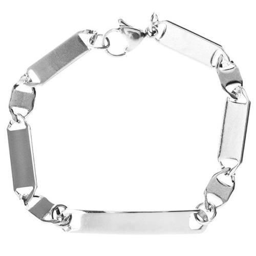 دستبند زنجیری پلاک دار جی دبلیو ال مدل BB-455
