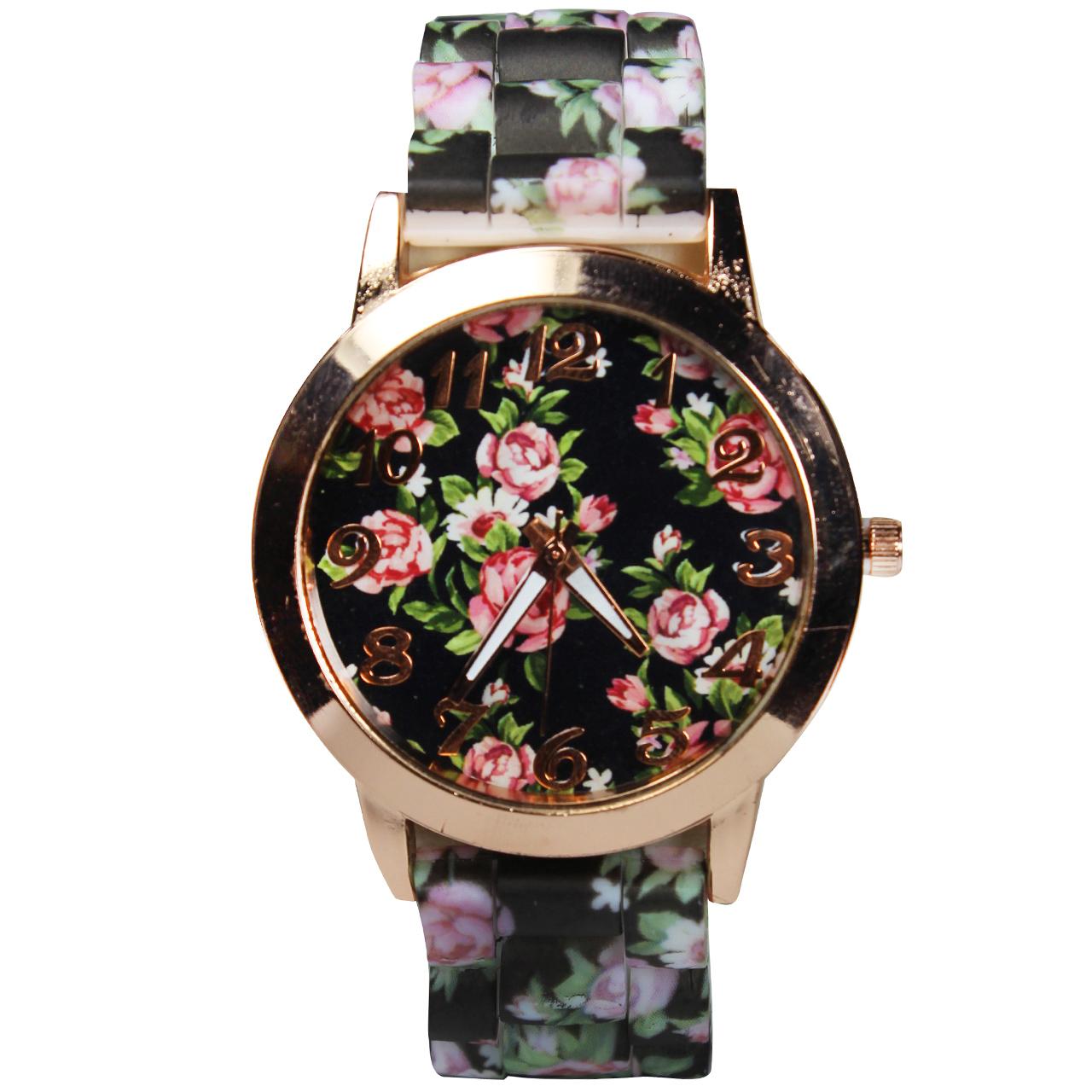 ساعت مچی عقربه ای زنانه مدل Flower-02 55