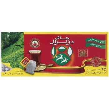 چای کیسه ای دو غزال مدل Pure بسته 25 عددی