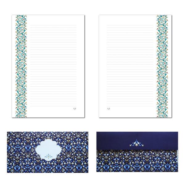 کاغذ یادداشت و پاکت نامه ملخی ستوده کد sbox034 سایز A4 بسته 20 برگ و 10 پاکت