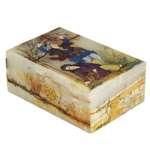 جعبه سنگ مرمر اثر بابائی با مینیاتور لیلی و مجنون سایز 10x15 سانتی کد 18