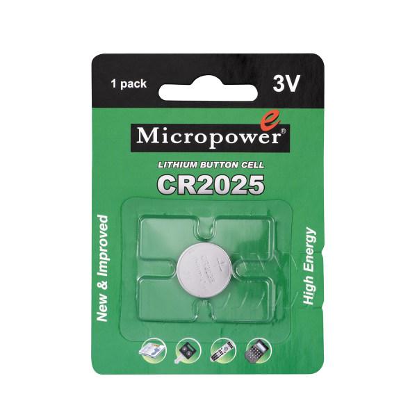 باتری سکه ای میکروپاور مدل CR 2025
