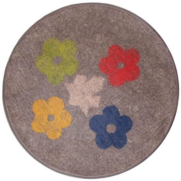 فرش نمدی گالری ماها طرح گل کد 199027