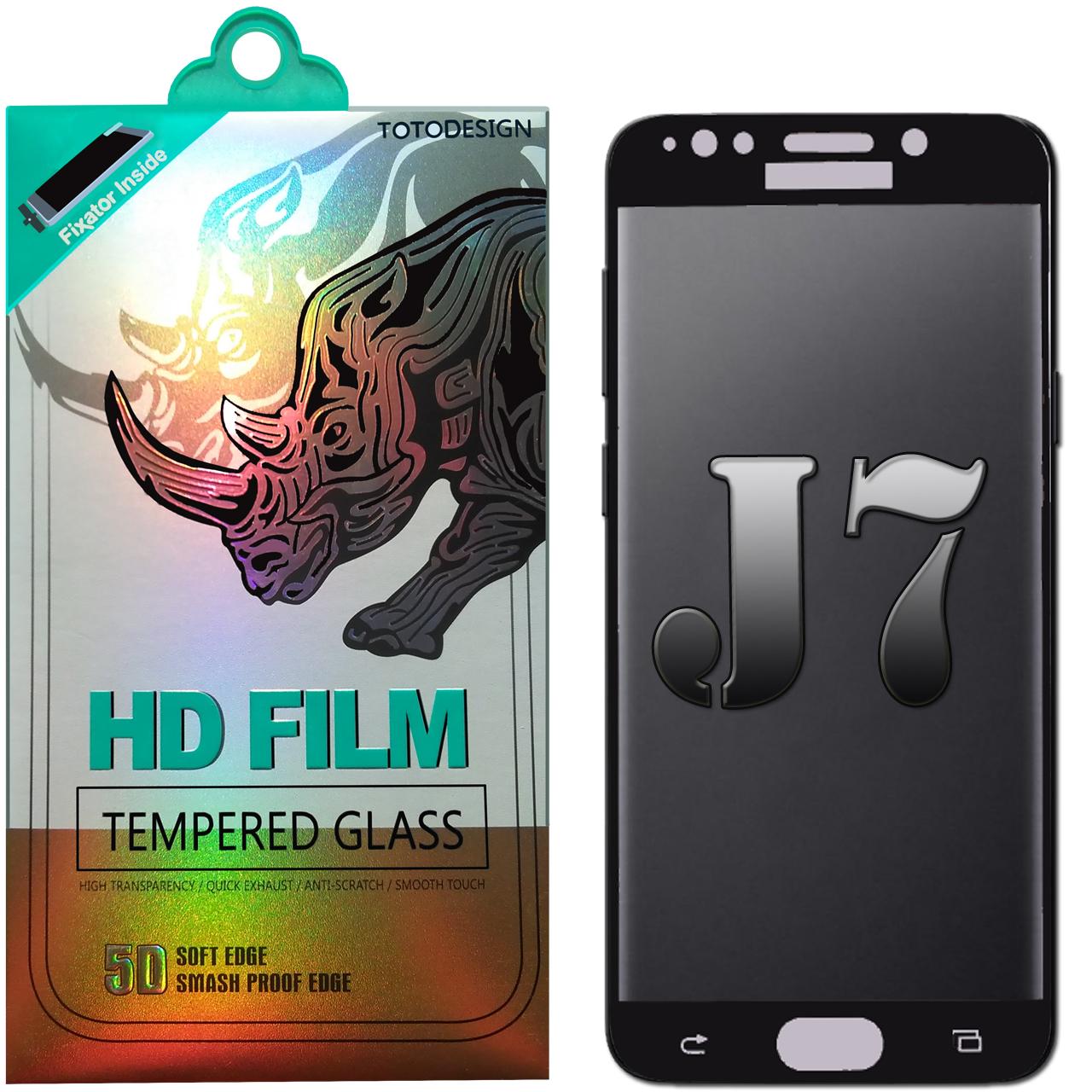 محافظ صفحه نمایش شیشه ای صفحه مدل Full Coverage 5D 2017 TOTODESIGN مناسب برای گوشی موبایل سامسونگ Galaxy J7