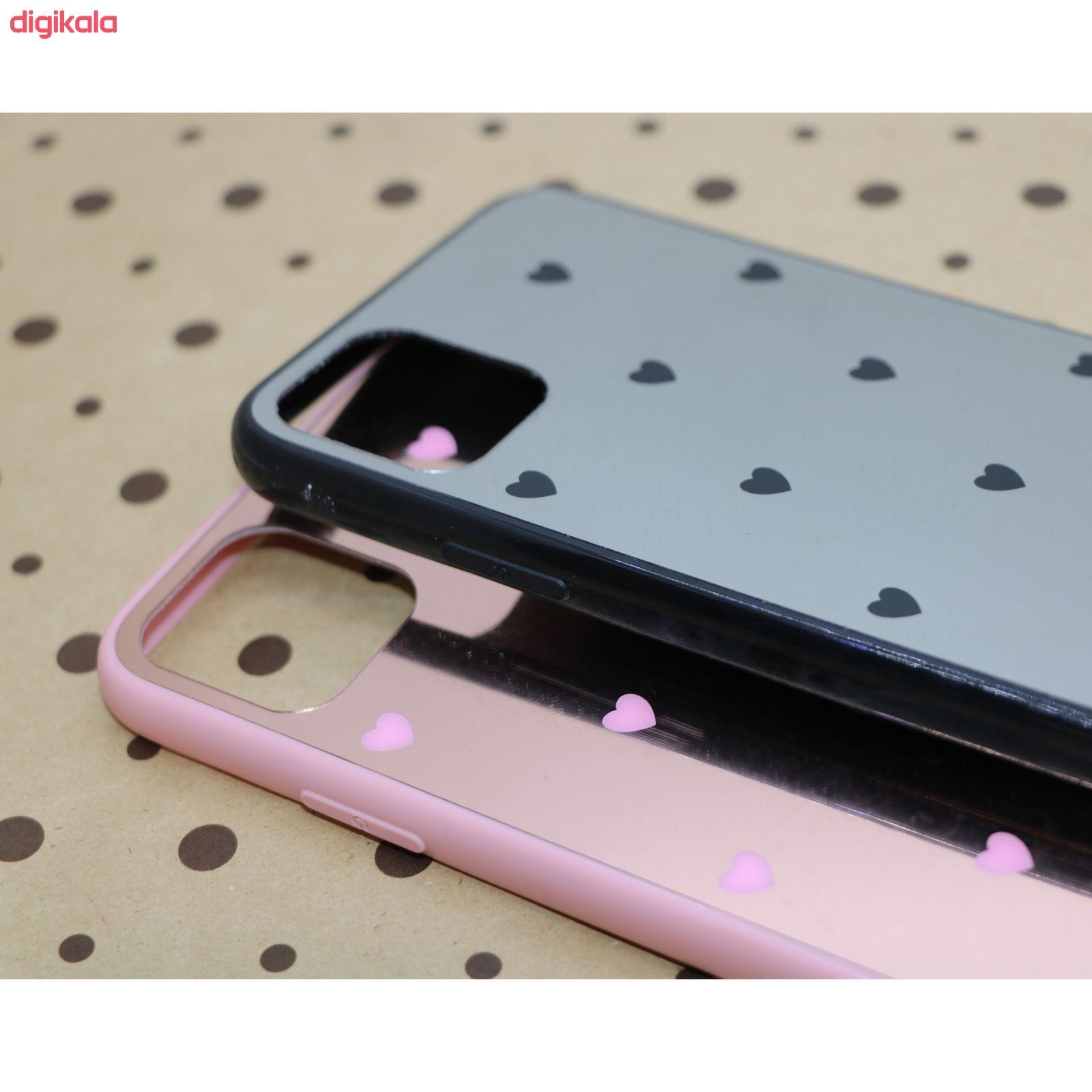 کاور طرح Heart مدل BH-01 مناسب برای گوشی موبایل اپل Iphone 11 به همراه نگهدارنده main 1 2