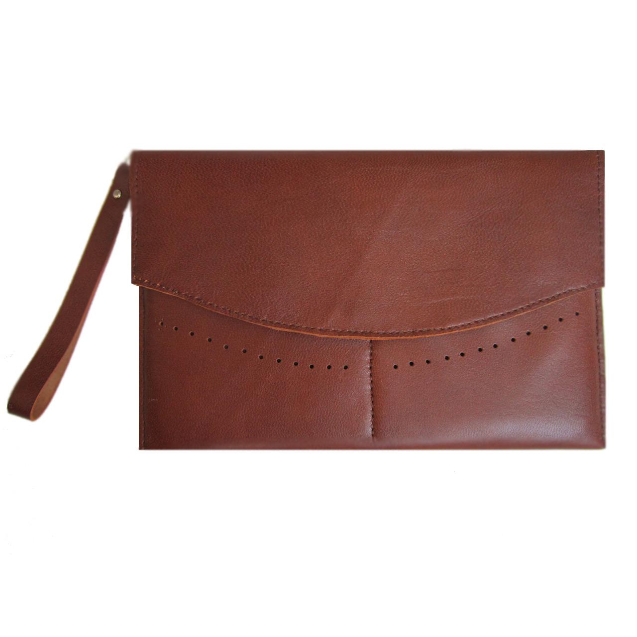 کیف دستی چرم طبیعی مژی مدل TA