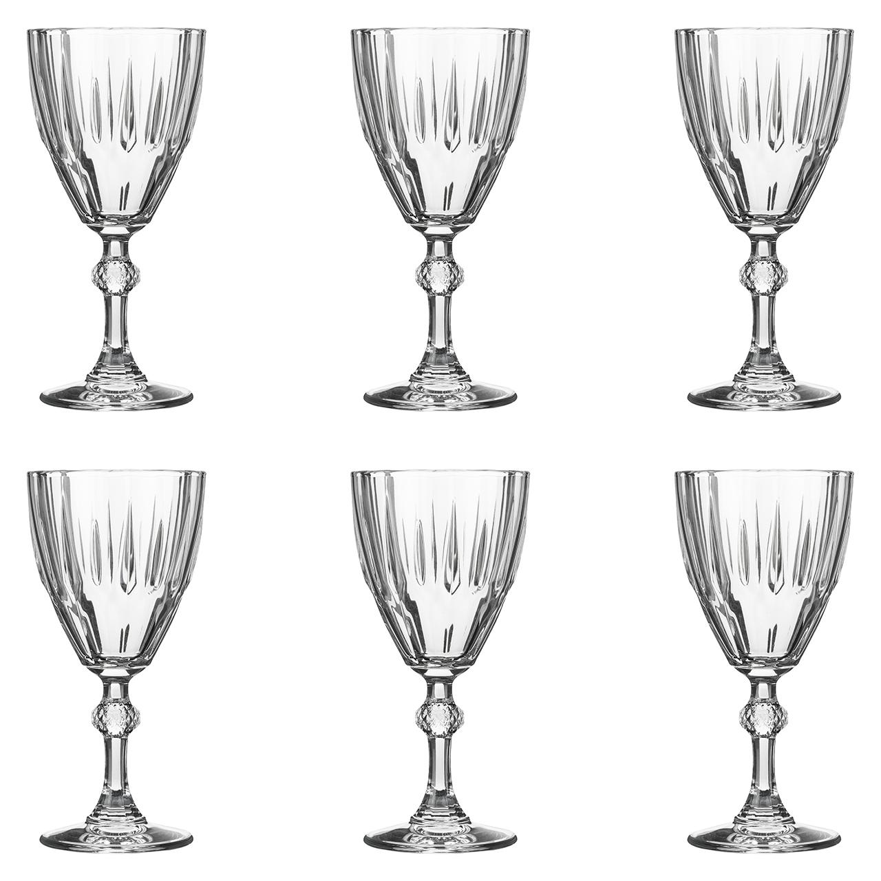 عکس لیوان پاشاباغچه مدل دیاموند کد 44757 بسته 6 عددی