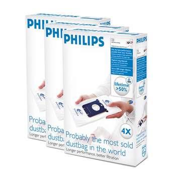 کیسه جاروبرقی مناسب برای جاروبرقی فیلیپس الکترولوکس و آاگ 3 بسته 4 عددی