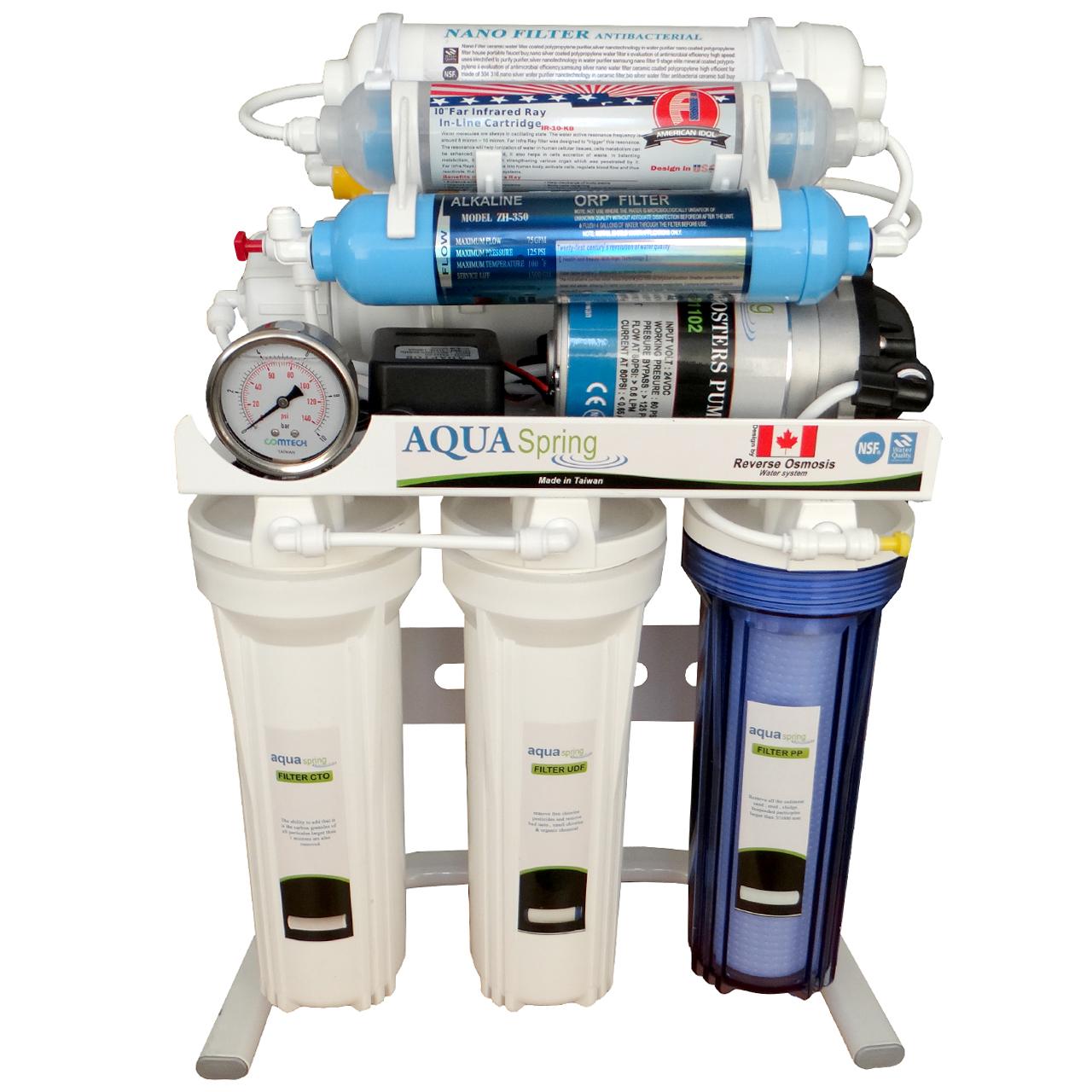 دستگاه تصفیه کننده آب آکوآ اسپرینگ مدل RO-SN177