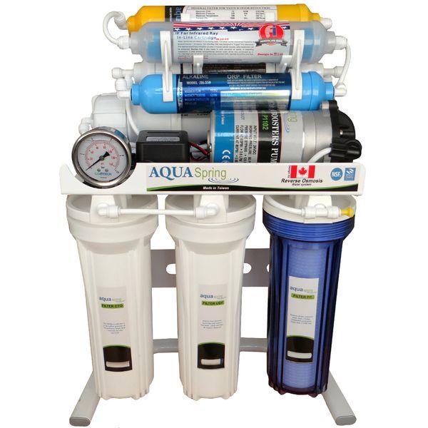 دستگاه تصفیه آب خانگی 8 مرحله ای اکسیژن ساز- قلیایی ساز- املاح معدنی - اسمز معکوس مدل RO-S157 |