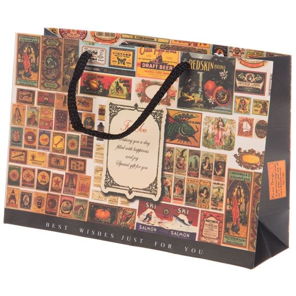 پاکت هدیه افقی جیحون مدل For You طرح تمبر سایز کوچک