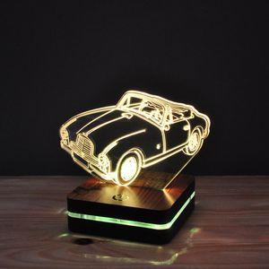 چراغ خواب موهومی طرح ماشین آستون مارتین ۱۹۵۵ هفت رنگ