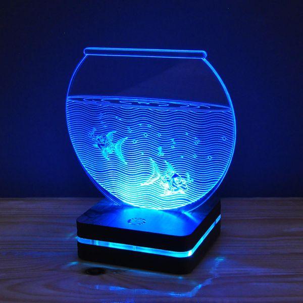 چراغ خواب موهومی طرح تنگ ماهی هفت رنگ   Mohomi Wirelight 7 Color Lamp Aquarium