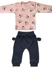 ست تی شرت و شلوار نوزادی طرح گاو کد FF-080 -  - 2