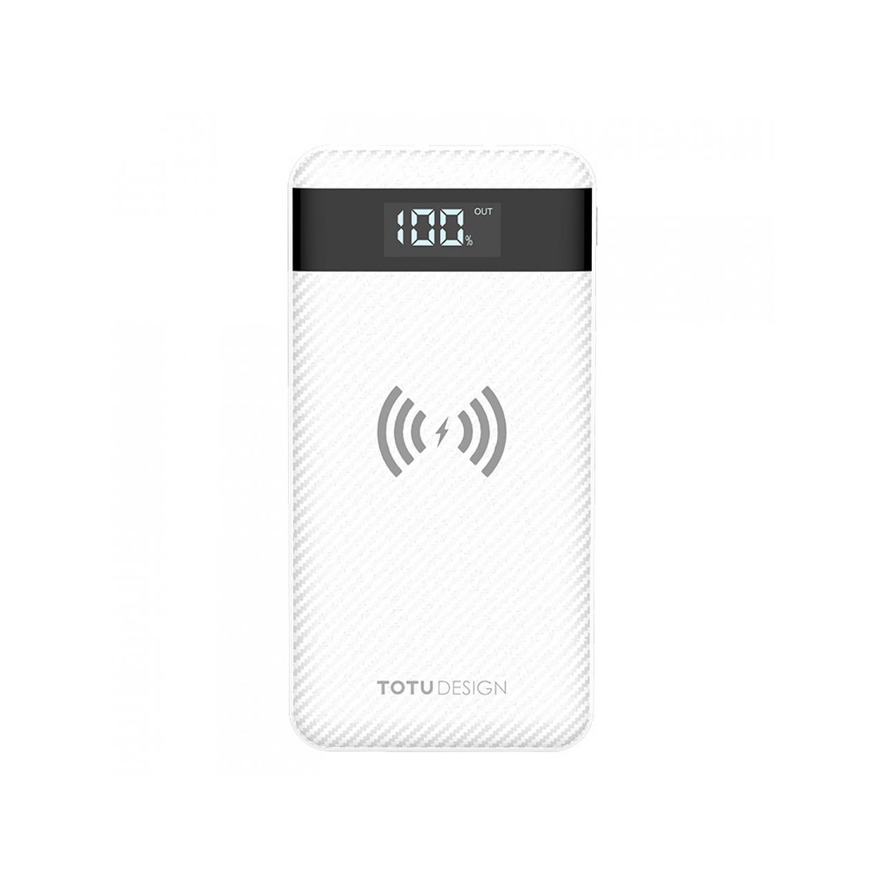 عکس شارژر همراه بی سیم توتو مدل PBW01 با ظرفیت 10000 میلی آمپر ساعت
