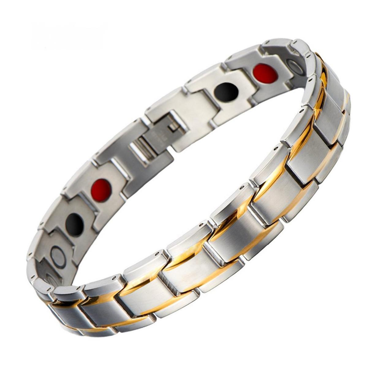 قیمت دستبند مغناطیسی سلامت داتیس مدل 102 نقره ای طلا یی 2500 گوس اسپرت