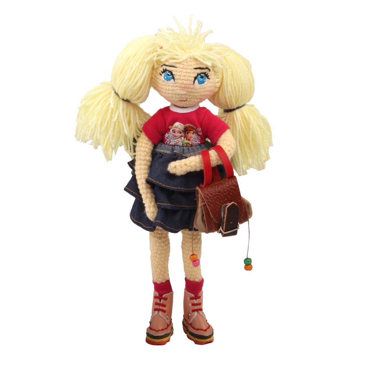 عروسک بافتنی پریا مدل Elsa01