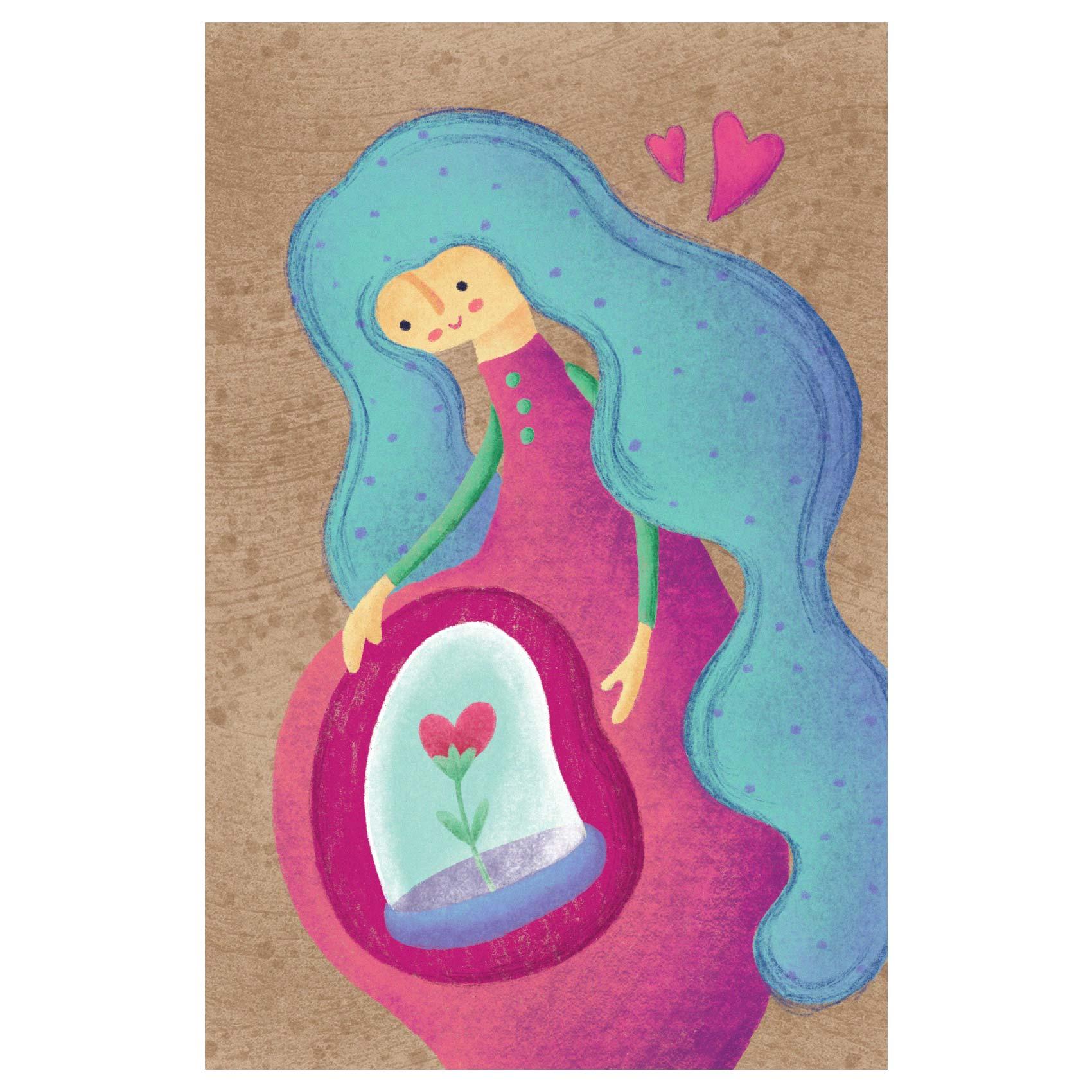 کارت پستال انتشارات سیبان مدل مادر باردار