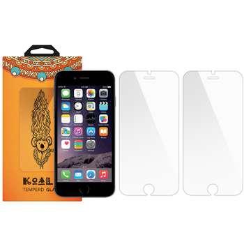 محافظ صفحه نمایش شیشه ای کوالا مدل Tempered مناسب برای گوشی موبایل اپل آیفون 6/6S بسته 2 عددی