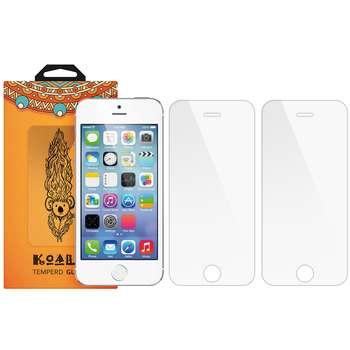 محافظ صفحه نمایش شیشه ای کوالا مدل Tempered مناسب برای گوشی موبایل اپل آیفون 5/5S/SE بسته 2 عددی