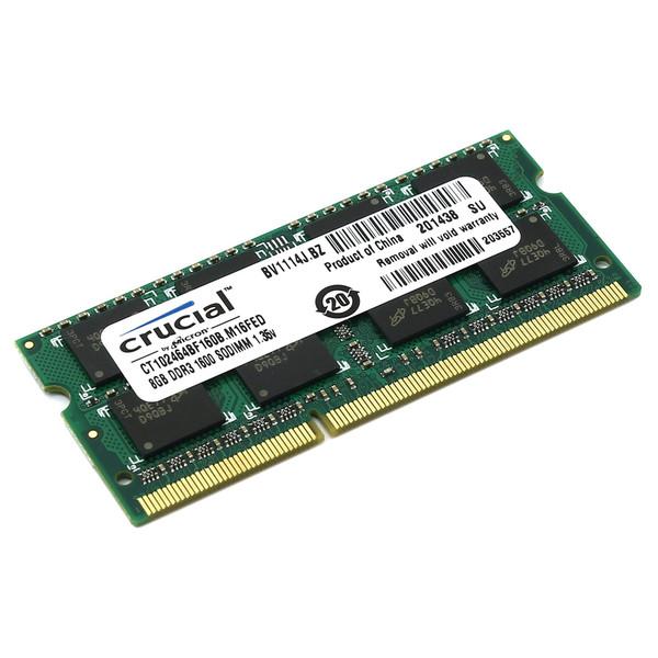رم لپ تاپ کروشیال مدل DDR3 PC3L 12800S MHz ظرفیت 8 گیگابایت
