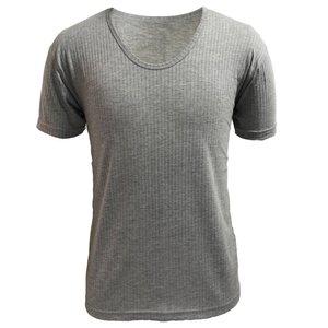 زیر پیراهن نیم آستین مردانه آریان نخ باف کد1215 مدل ملانژ سوزن خالی